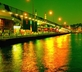 Galata Bridge at night