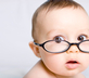 Baby with eyeglasses