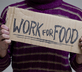 work for food homeless