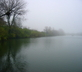 Lake on a misty day