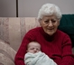 Elderly woman with baby