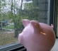 Piggy bank saved for a rainy day