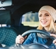 Woman saving time and money with driving tactics
