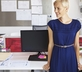 Woman learning she doesn't need a standing desk