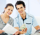young couple doing taxes