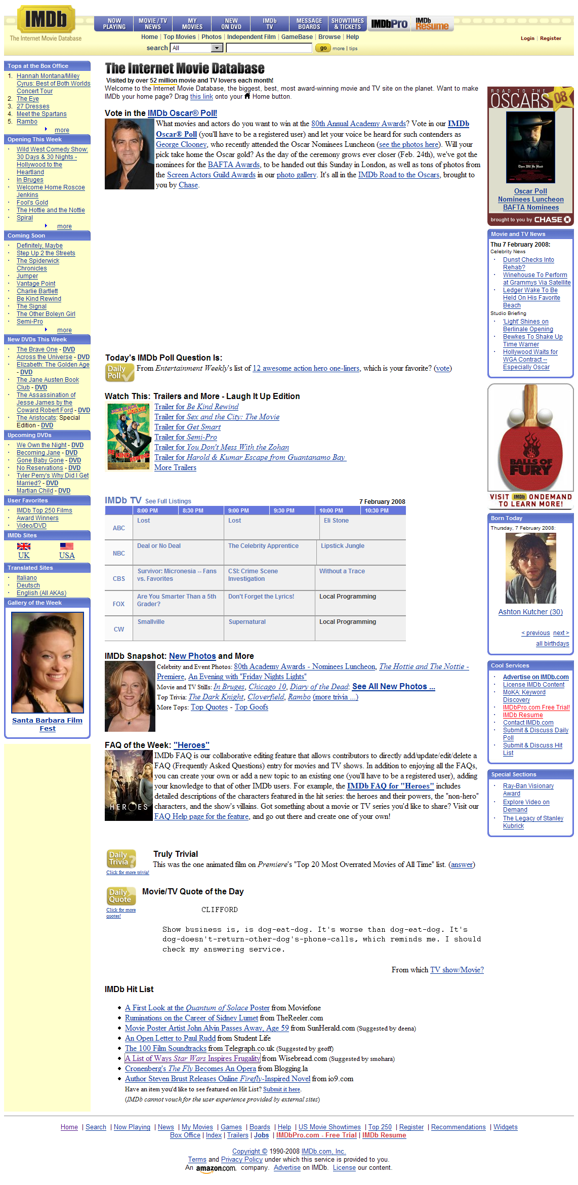 Screenshot page
