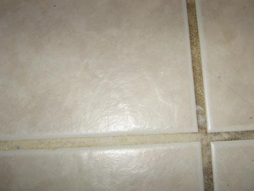 baking soda treated floor