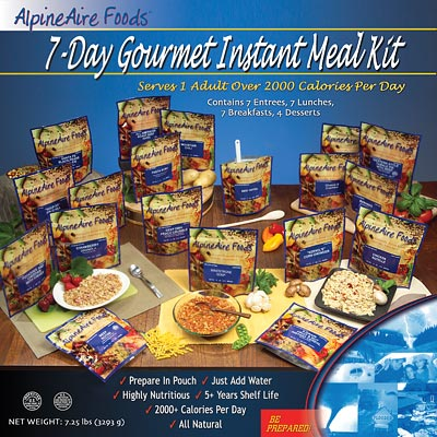 7-day gourmet instant meal kit