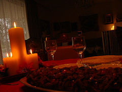 romantic Christmas dinner