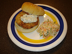 salmon patty burger