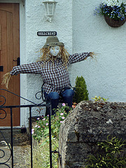 scarecrow in denim
