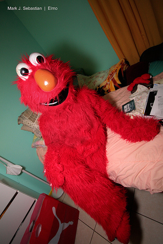 elmo sleeping