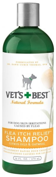 The Vet's Best Flea Itch Relief Shampoo is a veterinarian-formulated shampoo that provides fast itch relief from flea bites and infestations.