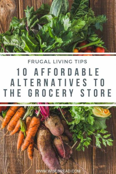Want to save money and buy fresher produce? From supporting local farmers, to growing food yourself, we've got 10 cheap and affordable alternatives to the grocery store! | #localproduce #heathlylifestyle #vegetables