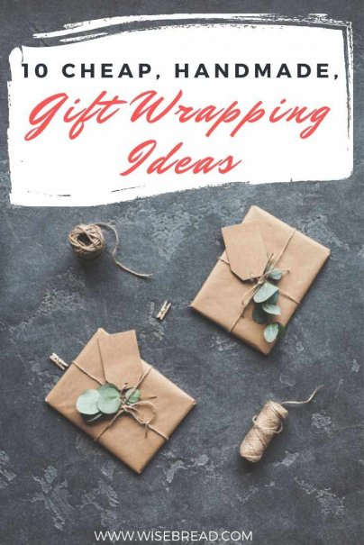 We've found some simpler, more cost-effective and earth-friendly ways to present a stunningly wrapped gift without all the waste? Here are some cheap handmade wrapping ideas. | #giftwrapping #gift #present