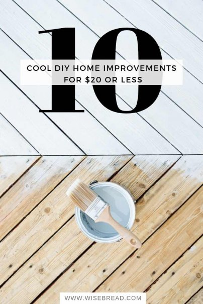 10 Cool DIY Home Improvements for $20 or Less