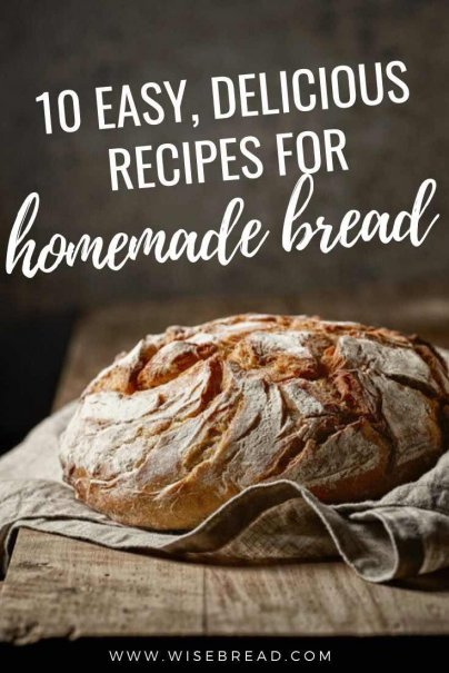 However, you can enjoy better health and delicious breads for less by making them from scratch at home. Here are 10 quick and easy bread and biscuit recipes for you to try! | #bread #breadrecipe