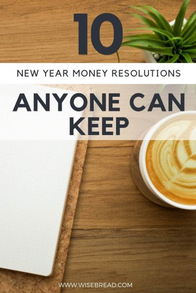 It's time to plan your new years resolution! How about you make it personal finance related? These money resolutions will be easy to keep, from simple frugal living ideas, to budget hacks, you will be leading a debt free life in no time! | #budget #resolution #newyears #personalfinance