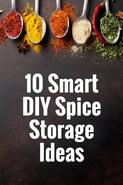 10 Smart DIY Spice Storage Ideas