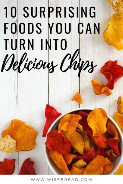 From tomatoes, to zucchinis, there are many unexpected foods that can be turned into chips. Here's how to get your crunch fix while getting a few healthy servings of fruits and veggies, as well as a few other surprising foods, at the same time. | #chips #veggiechips #vegetablechips