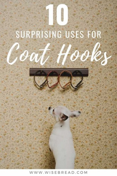 Did you know that there are some great ways to make use of coat hooks of all different shapes and sizes. We've got 10 coat hook hacks to help you save space in your home! | #hometips #organization #lifehacks