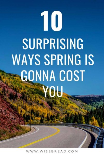While winter brings its own financial burdens, spring and summer can empty your pocketbook, as well. Here's how to stay within your budget and save money as the temperatures warm up. | #spring #financetips #savemone