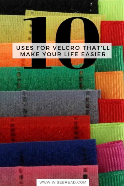 Did you know that velcro can be really handy around the house? Here are 10 Velcro life hacks that can make your life a littler easier. | #lifehacks #velcro #DIY