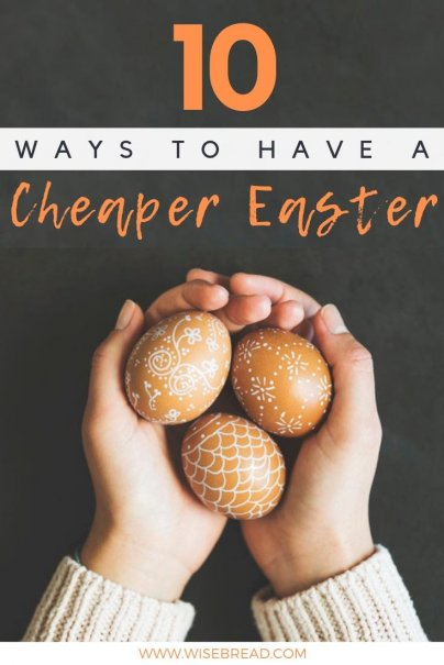 Want to know how to have a cheaper easter? From frugal decorations, simple crafts, basket ideas and more, we'll show you how to make easter thrifty and fun! | #frugalliving #DIYeaster #easter