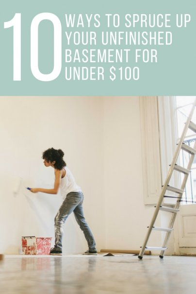 10 Ways to Spruce Up Your Unfinished Basement for Under $100