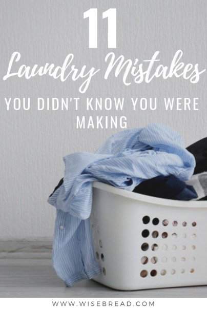 Do you hate doing laundry?  There's some common laundry mistakes that you could be making, and they can be costing your time, money, and a bit of sanity. | #laundry #househacks #hometips
