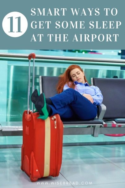 Some airports are less comfortable and accommodating than others. Here are some handy tricks to ensure you get a good night's sleep at pretty much any airport. | #airporthacks #travelhacks #traveltips