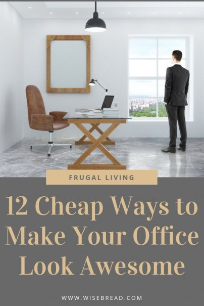 Want to update your office on a small budget? Whether its at work or at home, these are the frugal and cheap ways to organize your office to make it look more professional. | #office #careeradvice #frugaltips