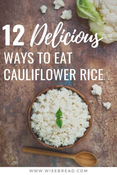 Have you ever made rice? This is a frugal, cheap and healthy substitute to rice! Here are 12 Delicious Ways to Eat Cauliflower Rice. | #thriftyfood #cauliflower #healthytips
