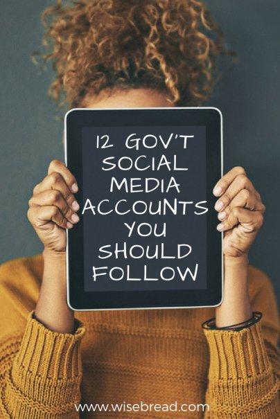 12 Gov't Social Media Accounts You Should Follow