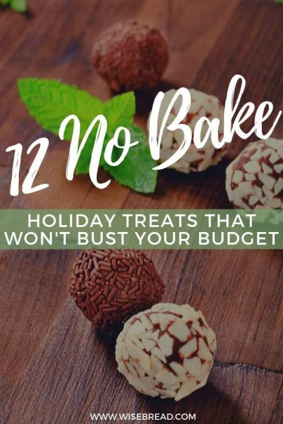 Want to make a holiday treat and want something simple. We've got some great no-bake treats that are budget friendly and delicious. | #frugalliving #christmasfood #treats