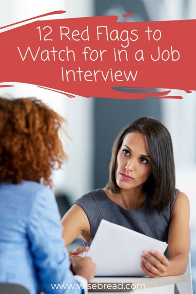 12 Red Flags to Watch for in a Job Interview