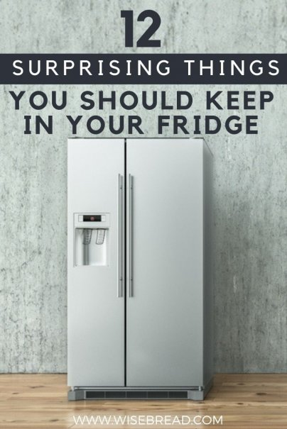 The fridge is usually for food, but did you know there are some other common household items that you should keep in your fridge! From candles, to batteries and more, here are the 12 home hacks you need to know!   #frugalliving #lifestyle #homecare