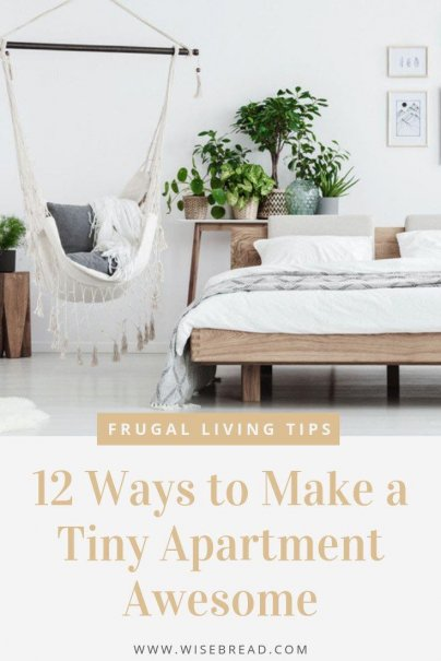 Small apartments are great because they are generally more affordable, easier to clean and decorate. Here are the tips and ideas to make your tiny apartment awesome! | #tinyapartment #organization #hometips