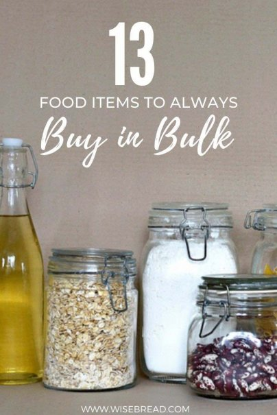 It can be hard to decide what's worth buying in bulk. Here is the food you should buy in bulk to save money and be frugal! | #bulkfood #frugalliving #savemoney