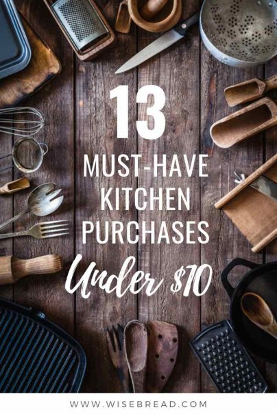 Updating your kitchen? These are the kitchen appliances and utensils you need to have, and they are under $10. Make your life easier with these great kitchen purchases! | #kitchenhacks #home #kitchen