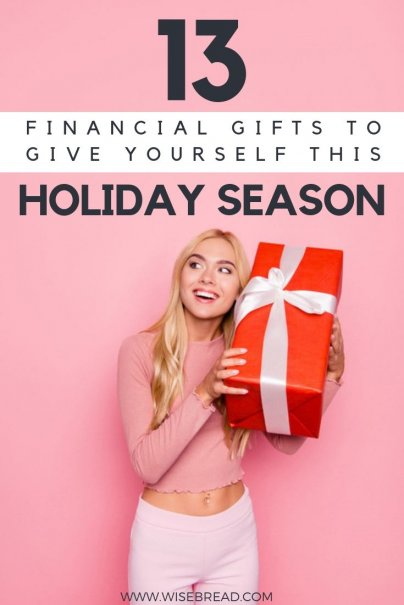 Want to invest in yourself this holiday gift giving season? We've got ideas on how you can give yourself a financial present, this way you will be able to start saving money, get on the track of becoming debt free! | #personalfinance #moneymatters #savingmoney