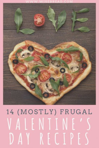 Why spend money on a romantic night out when you can save money and have an even more romantic night in? We've got tips and ideas for recipes you can make at home, for dinner or deserts for two. You know what they say — the best way to one's heart is through the stomach! | #frugalrecipes #valentinesday #romanticdinner