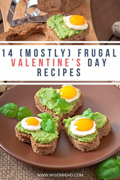 Homemade treats are the best frugal valentine's gift. Here are 14 (relatively) inexpensive recipes you can make at home for that special day. | #valentinesday #cheaprecipes #frugalfood
