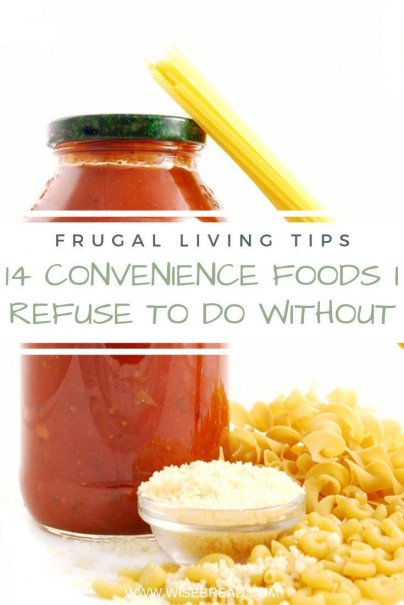 Looking for some frugal pantry hacks? These are the convenience foods that are serious time-savers. | #thriftyfood #cheapeats #frugalliving