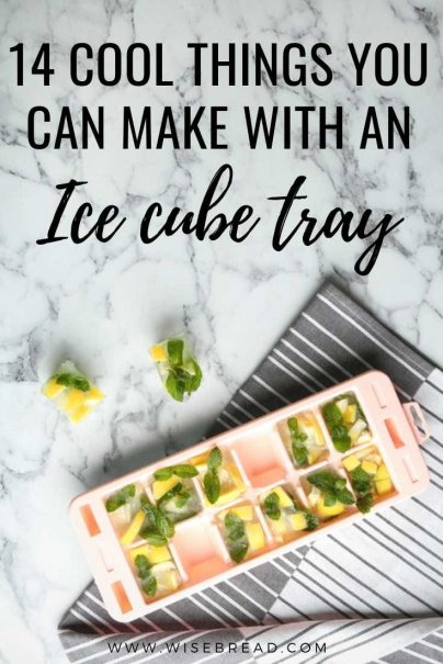 Did you know you can make coffee cubes, crayons and more in your ice cube tray? Check out these 14 cool ways to use your IceCube tray! | #icecubes #lifehacks
