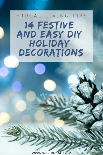 With Christmas Holiday around the corner it's time to get the DIY Craft ideas out, here's how to make cheap, fun and simple decorations for your room decor! | #christmas #frugaltips #DIY