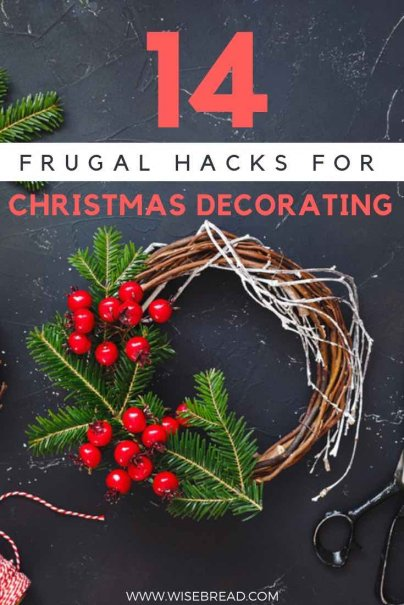 Searching for a frugal christmas? Why don't you spice up your tree and decorations with these budget but awesome ideas! Your kids and families can have fun and help with these holiday decorating crafts and hacks! | #frugalliving #christmas #DIYdecorations #DIY