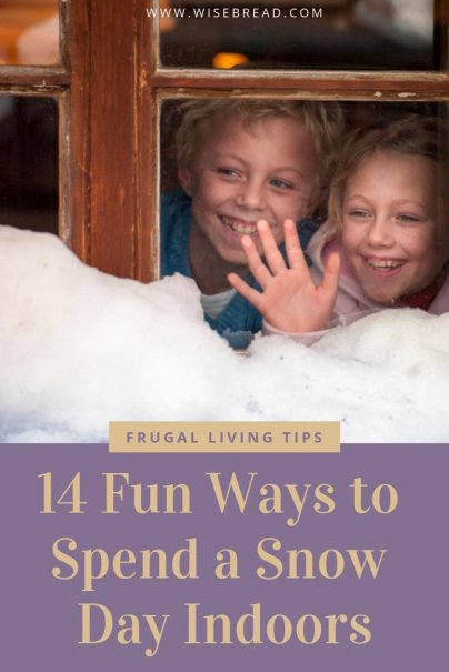 Want some ideas of what you can do when you are stuck indoors on a snow day? We've got the tips from you with plenty of activities to keep you and your family entertained! | #frugalfun #funactivities #snowday #stuckinside