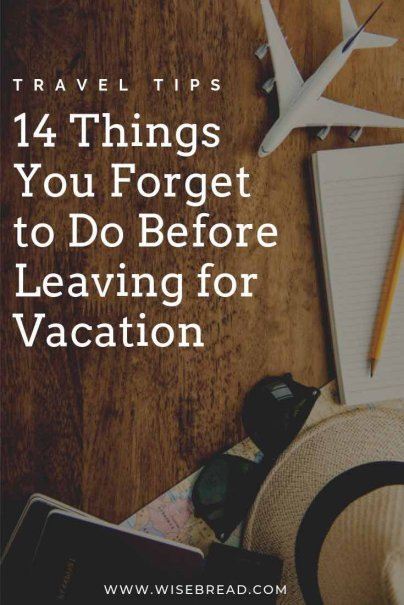 Theres so many things to do before going on a trip / vacation. We've got the important list of things that people often forget to do before leaving their homes and going on their adventure! | #vacation #traveltips #travelhacks