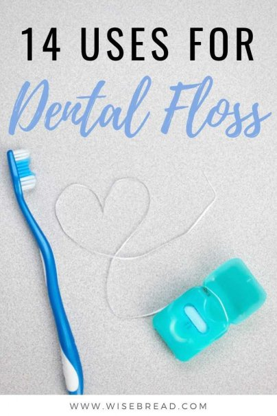 In addition to using it to tie things together in a pinch, I've found over a dozen additional unique ways to use floss! #DIY #lifehacks #floss